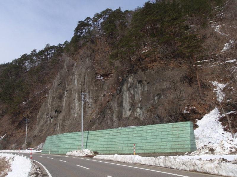 ロックジオバンク(落石防護補強土壁)