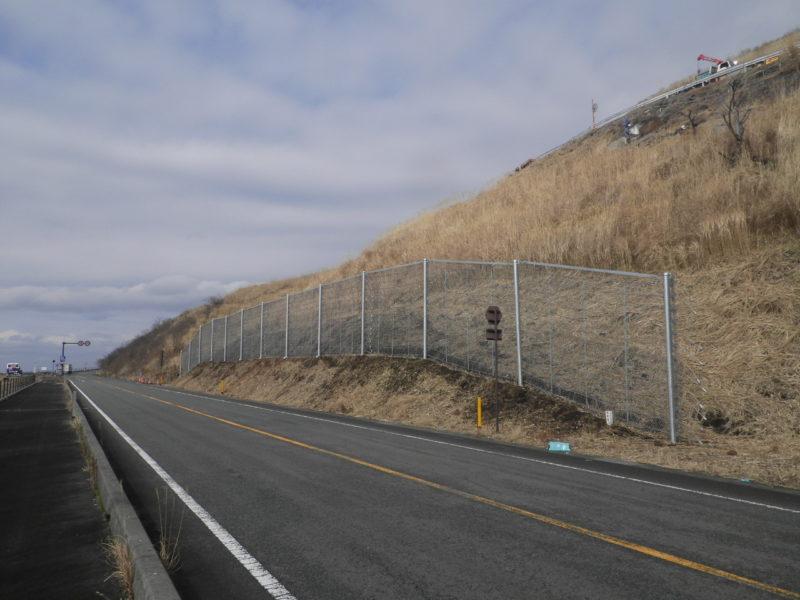 パイルロックフェンス(杭式落石防護柵)
