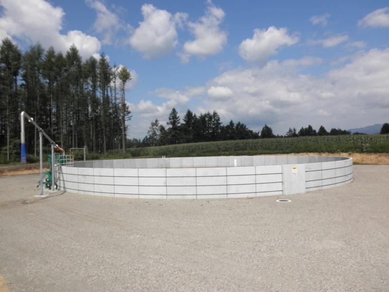美蔓農業水利事業 配水調整池幌内工区外一連建設工事