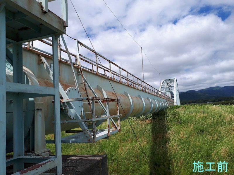 水利施設 大富地区63工区の内循環式エコクリーンブラスト施工他一式